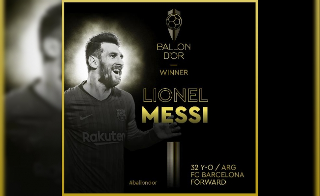 Ballon d'Or 6'ncı kez Lionel Messi'nin